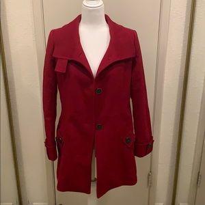Kristen Blake Red Pea Coat